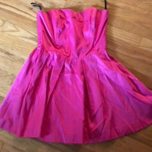 French Connection hot pink strapless dress